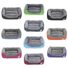 Deluxe Soft Washable Dog Pet Warm Basket Bed Cushion Pet Family Essential UK