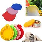 Pet Food Can Cover Lid Dog Cat Tin Silicone Plastic Reusable Storage Caps new