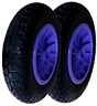 More images of PACK OF 2 PURPLE 14 PUNCTURE PROOF SOLID 3.50-8 WHEELBARROW WHEEL 20MM BEARING