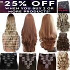 Ginger Brown Red Chestnut Blonde Hair Extensions Clip in Hair  real Human Feel