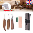 8× Wood Carving Knife Chisel Kit Woodworking Whittling Cutter Chip Hand Tool Cut