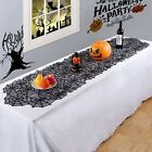 Halloween Table Runner Black Spider Web Lace Tablecloth Dinner Decor W