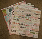 Bo Bunny 12x12 Scrapbook Paper Persuasion Moments Love Notes Blooms Dot 2 sheets