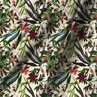 Leaf Print Cotton Fabric Quiliting  By The Yard 44* Wide Wide Cloth 44* Wide