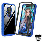 For Motorola Moto G7 Play/Power/Supra/Optimo Maxx/G7 Case 360° Shockproof Clear
