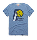 Indiana Pacers logo vtg retro NBA basketball homage t-shirt men's Blue on eBay