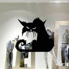Diy Vinyl Spooky Halloween Decoration Scary Cat Decal Wall Stickers Black Mural