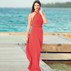 AVON Ladies Womens Holiday Halterneck Maxi Dress Plus Size 14 16 18 20 22 24