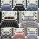 Floral Stripes Damask Style 100% Egyptian Cotton Duvet Cover Sets Bedding Sets