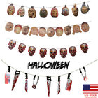 New Halloween Bloody Garland prop decoration blood Saw Hanging Party Decors US