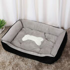 Pet Dog Bed Warming Kennel Washable Cosy Orthopedic SOFT Plush Cushion Bone Sofa