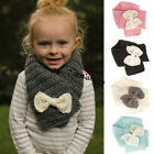 Kids Winter Knitted Scarf Warm Boys Girls Crochet Scarves Children Neckerchief