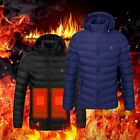 Electric USB Men Women Winter Heated Hooded Warm Coat Heating Jacket Clothing