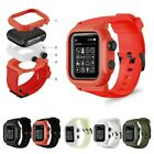 Waterproof Case Band for Apple Watch 5 4 44mm Silicone Strap iWatch 3 42mm Belt image