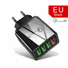 4 Multi Port Fast Quick Charge 3.0 USB Hub Wall Charger Adapter EU / US Plug