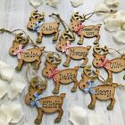 Personalised reindeer 1st christmas tree decoration baby boy girl xmas decs