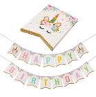 Unicorn Baby Party Banner Flag Decors Plates Tablecloth Balloon Birthday Supply