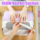 450W Nail Art Dust Suction Collector 3 Fan Vacuum Cleaner Manicure Tool w/Bag