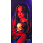Fires Glow by Manuel Valenzuela Mexican Woman Unframed Canvas or Paper Art Print