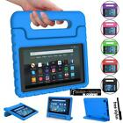 for amazon fire 7 hd 8 tablet shockproof eva handle kids stand cover case pen
