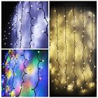 102+LED+Fairy+Outdoor+String+Curtain+Window+Hanging+Lights+Christmas+Connectable