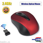2 4ghz wireless mouse usb optical mice usb receiver for pc laptop computerca