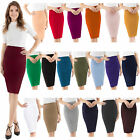 Womens Stretchable Pencil Skirt - Knee Length Classic Skirt by Velucci