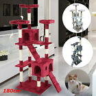 180cm Cat Tree Floor to Ceiling High Scratching Post Tower Activity Centre gv