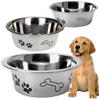 Dog Bowl Stainless Steel Metal Pet Puppy Animal Food Water Small Medium Large