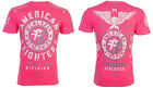 American Fighter Short Sleeve T-Shirt Mens MADISON Neon Pink S-3XL $40 NWT