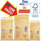 Bubble Lined GOLD AROFOL ENVELOPES(10 Sizes)A5/A4/A3/CD'S/DVD Postal