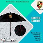 Porsche Umbrella Golf Design Windproof Automatic White Black Red Brolly Anti-UV