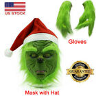 The Grinch Stole Mask Christmas Hat + Glove Party Prop Xmas Cosplay Costume