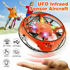 Mini UFO Drone RC Infrared Sensor Induction Aircraft Quadcopter Flying Toys 360°