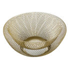 Kitchen Vegetable Basket Stand Double Wall Mesh Dinning Table Fruit Storage Bowl