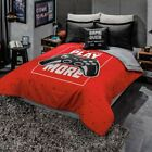 Game Lovers Play More Red Comforter Set Double Sided New Boys Teens Home Bedding