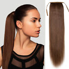 """15""""-24"""" Popular High Straight Ponytail Clip-on Remy Human Hair Extensions 80g !"""