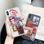 TPU Coca Cola Pattern Phone Case Cover For iPhone 11 Pro X XS Max XR 7 8 Plus $4.63  on eBay