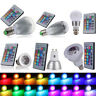 E27 E14 B22 LED RGB Spot Light Bulb Color Changing Globe Light + IR Remote    2