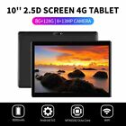 "10.1"" 4G-LTE Tablet Android 9.0 Pad 2.5D Screen 8+128GB Dual SIM GPS Phablet US"