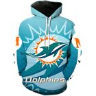 Miami Dolphins Hoodie Hooded Sweatshirt Sporty Coat Fashion Jacket Gift for Fans $30.39 USD on eBay