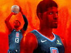 """132 Paul George - LA Los Angeles Clippers NBA Basketball 32""""x24"""" Poster on eBay"""