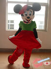 Xmas Cartoon Mouse Mascot Costume Birthday Party Game Dress Fancy Adults New