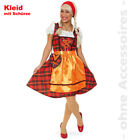 Oktoberfest Costume Dirndl Ladies Franzi Scottish Dress Fancy