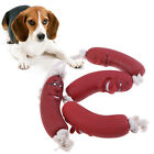 Pet Toys Sausage Squeaky Healthy Latex Dog Toys Sausage On Rope Home & Kitche_ws
