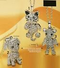 Necklace Avon Dog, Cat or Pooh with Limbs Jointed - Finish Silver Rhinestone