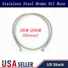 Motorcycle Brake Clutch Oil Hose Line Pipe Banjo Fitting Stainless Steel Braided $8.64 USD on eBay
