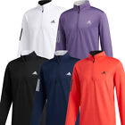 adidas Golf 2020 3-Stripes Mens 1/4 Zip Midlayer Sweater Pullover Sports Top