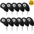 Golf Club Iron Head Covers Magnetic 11 Pcs RH/LH Embroidery Numbers On Both Side
