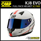 SC790E OMP KJ-8 KJ8 Kart Helmet Karting CMR Full Face inc 2 Visors Sizes 52-59cm